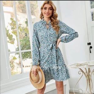 Stellar Boho Floral Print Dress- NWT